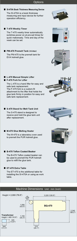 Horizon BQ-470 4-Clamp Automatic Perfect Binder